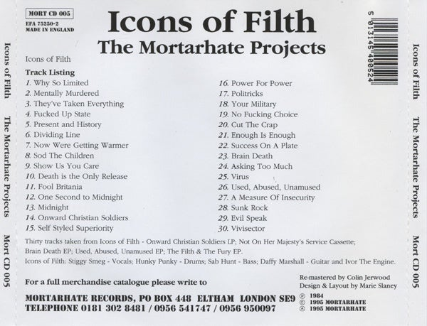 Image of Icons of Filth - Mortarhate Projects CD MORT5