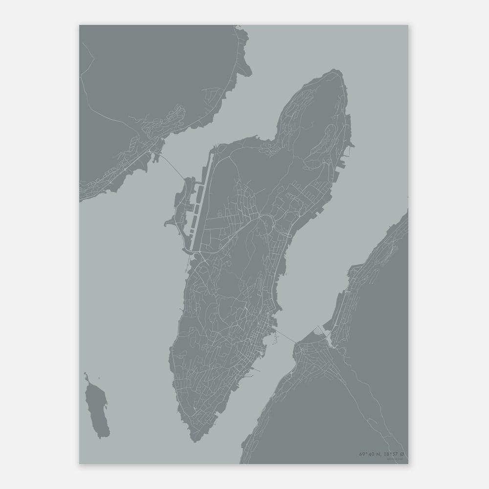 Kart Tromsø