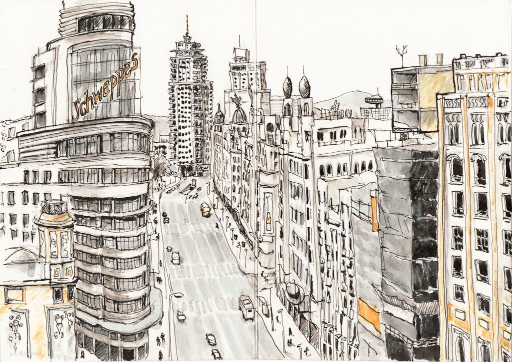 Image of Gran Via of Madrid