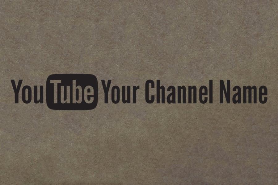 Image of Custom YouTube Decal