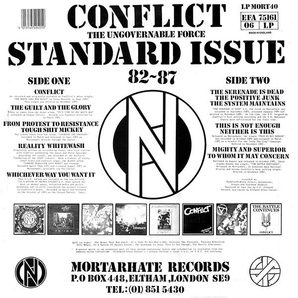 Image of Standard Issue 82 - 87 CD - MORT40
