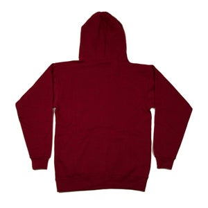 Image of Intro Script Hoodie (Wine Red)