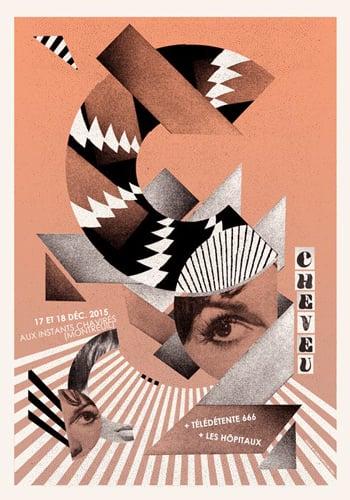 CHEVEU (Instants Chavirés /2015) screenprinted poster