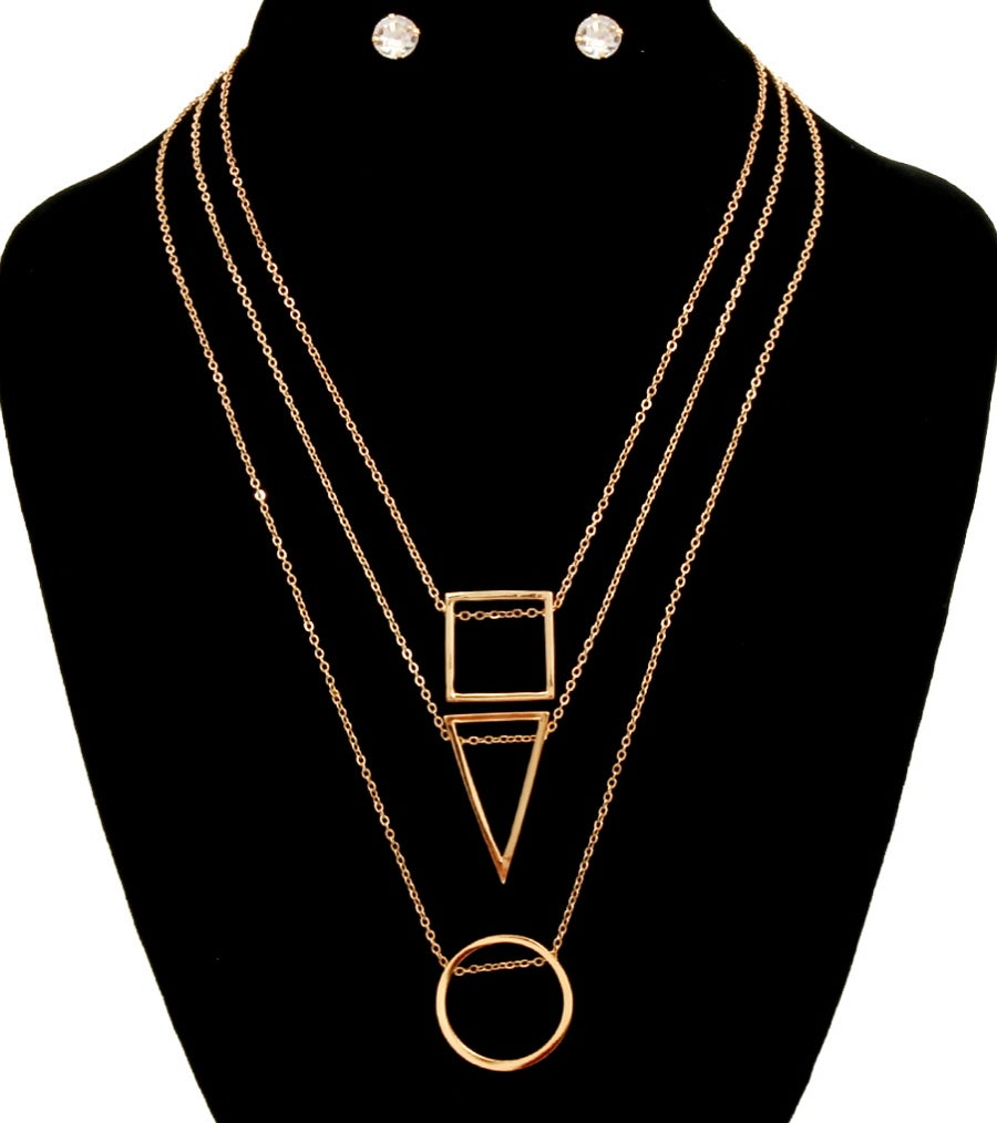 Image of Three Pendants Necklace Set