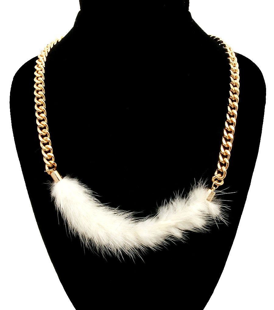 Image of Faux Fur Chain Necklace