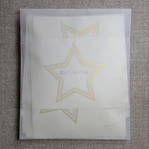 Image of Etiquettes -étoile or-