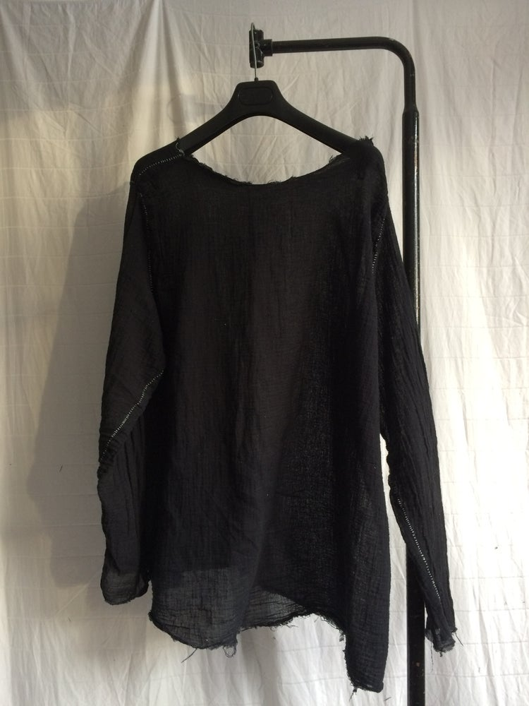 Image of Raw Neckline Pullover