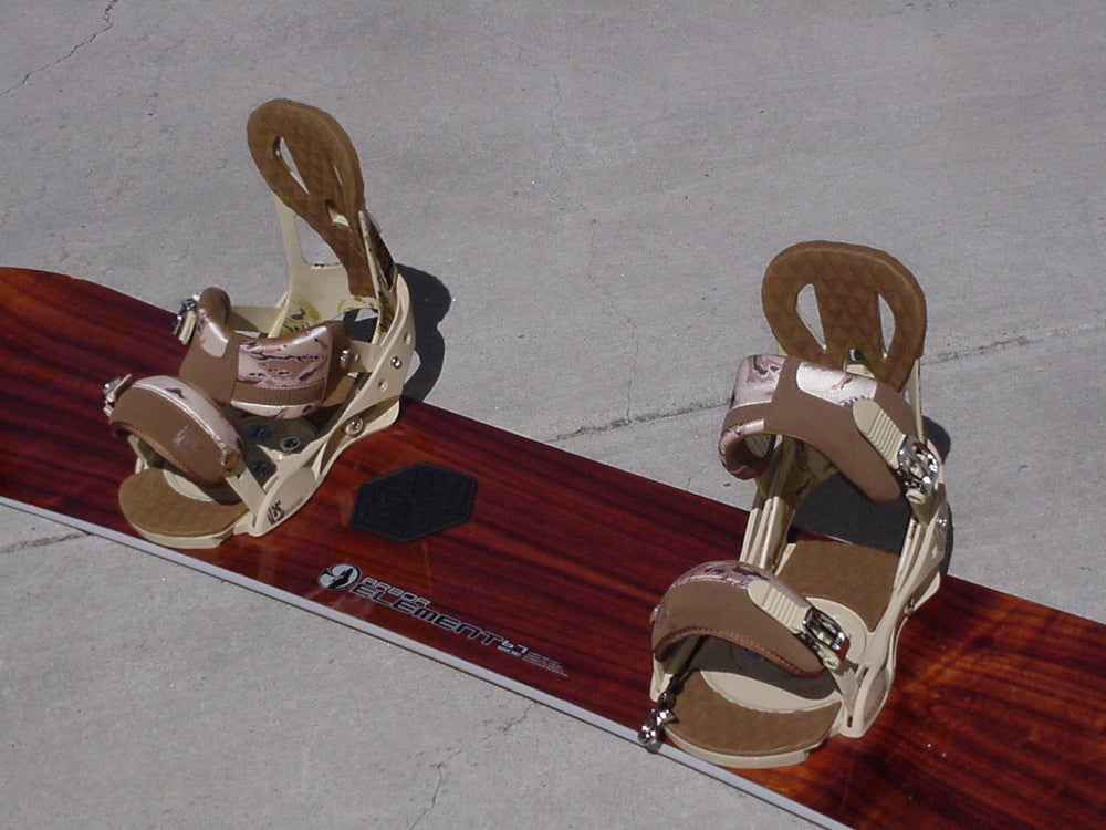 Image of Arbor Element 167cm Snowboard with Burton Custom xl Bindings