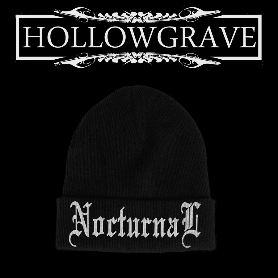 Image of Nocturnal / Embroidered Beanie