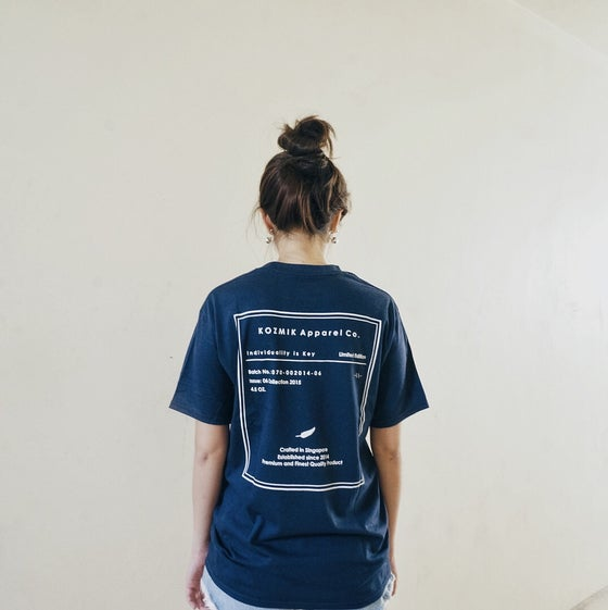 Image of Label T-Shirt (Navy)