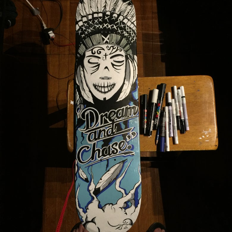"Image of ""Dream and Chase"" Skateboard deck"