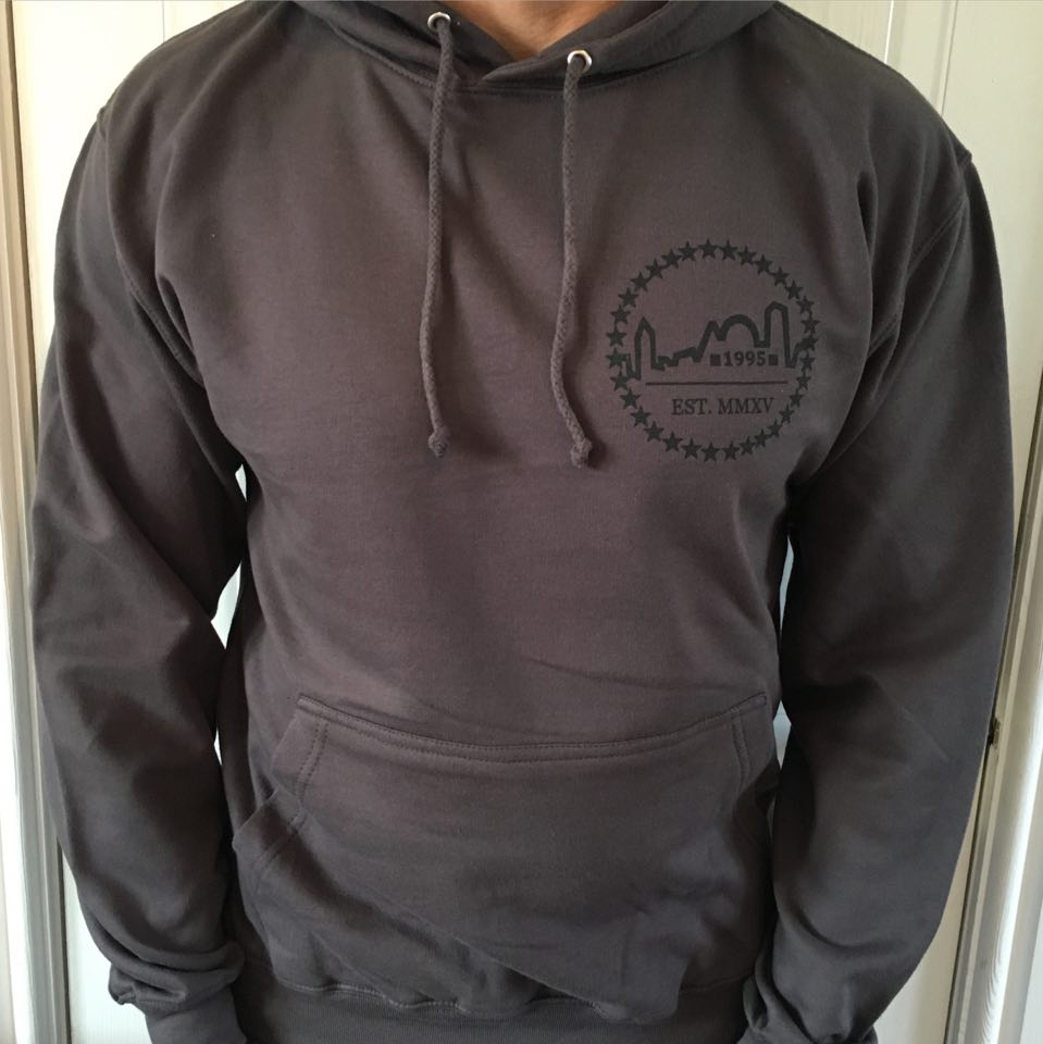 Image of Storm Grey Logo Hoodie