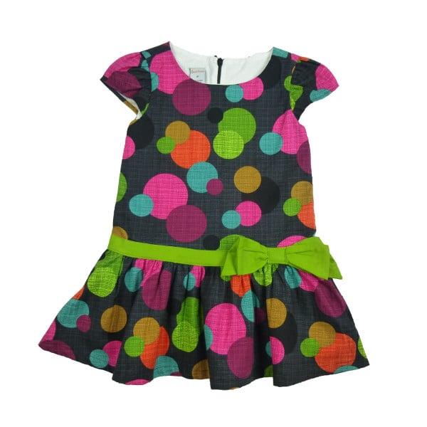Image of Drop-Waist Dress (Polka Dot)