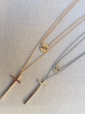 Image of Layered Faith Necklace Set