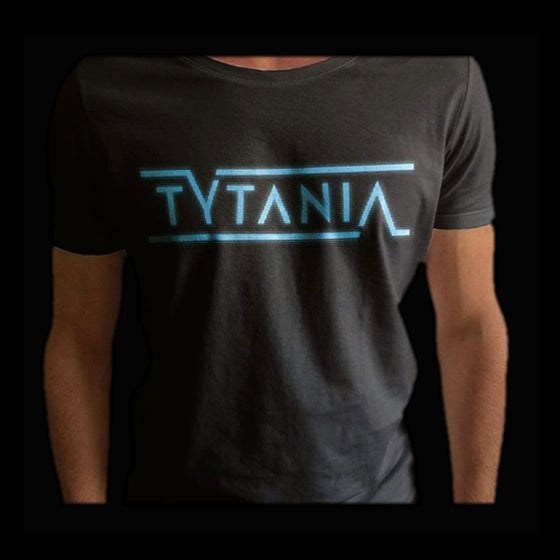 Image of T-Shirt Black Blue Logo Unisex