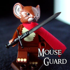 Image of Saxon - MOUSE GUARD Custom Minifigure SOLD OUT