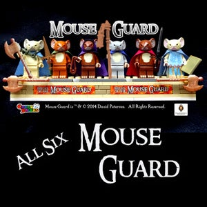 Image of Complete set of SIX Mouse Guard custom minifigures - SHIPPING NOW!