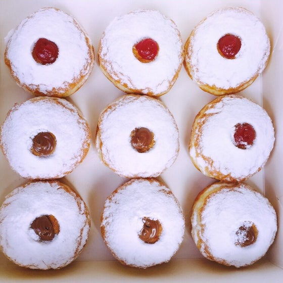 Image of Mixed box of Nutella & Jam donuts