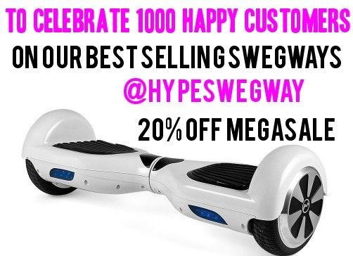 Image of Eski White City Swegway Swegboard balance board hoverboard self balancing scooter by Hype Boards