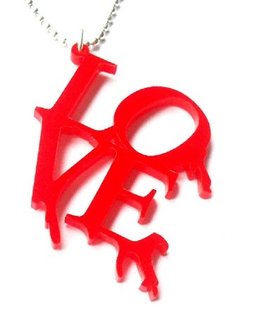 Image of Kool Jewels Bleeding Love Statement Necklace