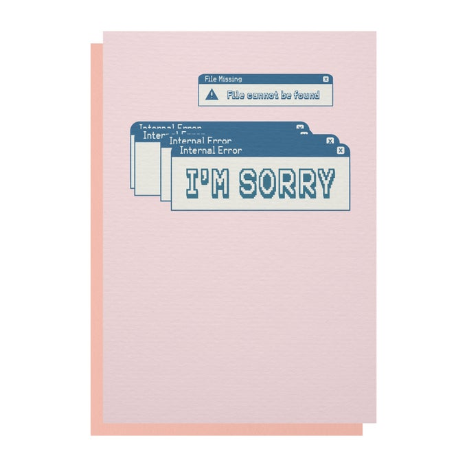 Image of 'Internal Error' Greetings Card
