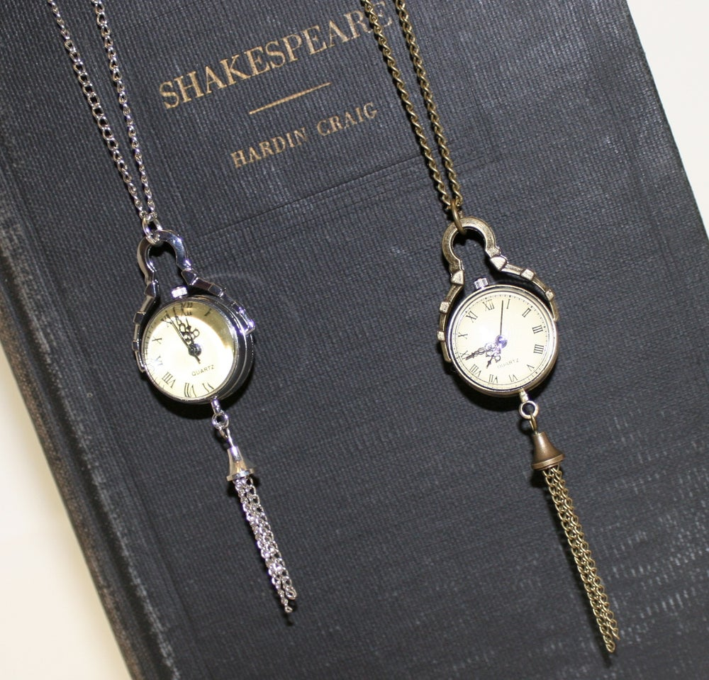Image of 'Lil Farm Designs~ Pocket Watch Necklace