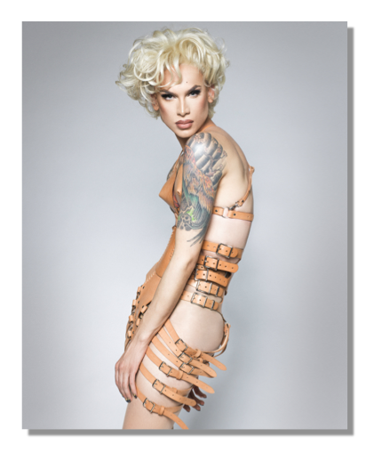 Image of Miss Fame in Leather Harness (8 x 10)