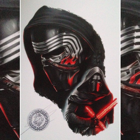 Image of Limited edition kylo-ren print