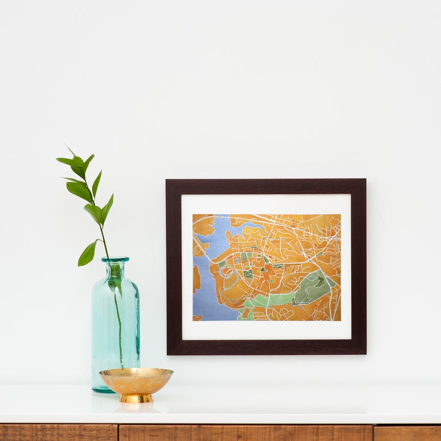 Image of CLEMSON MAP FRAMED - PRE-ORDER