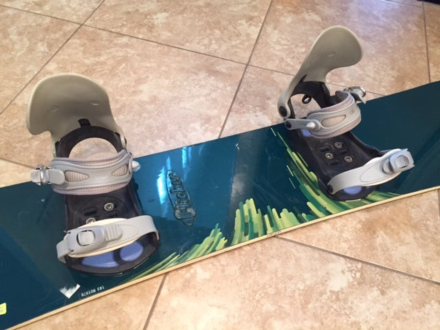 Image of Big Burton Canyon 168cm Snowboard w/Salomon xl Bindings