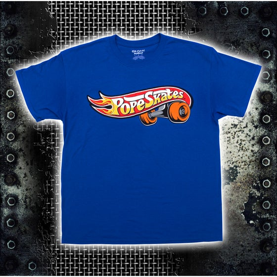 Image of Hot Wheels Logo Blue T-Shirt