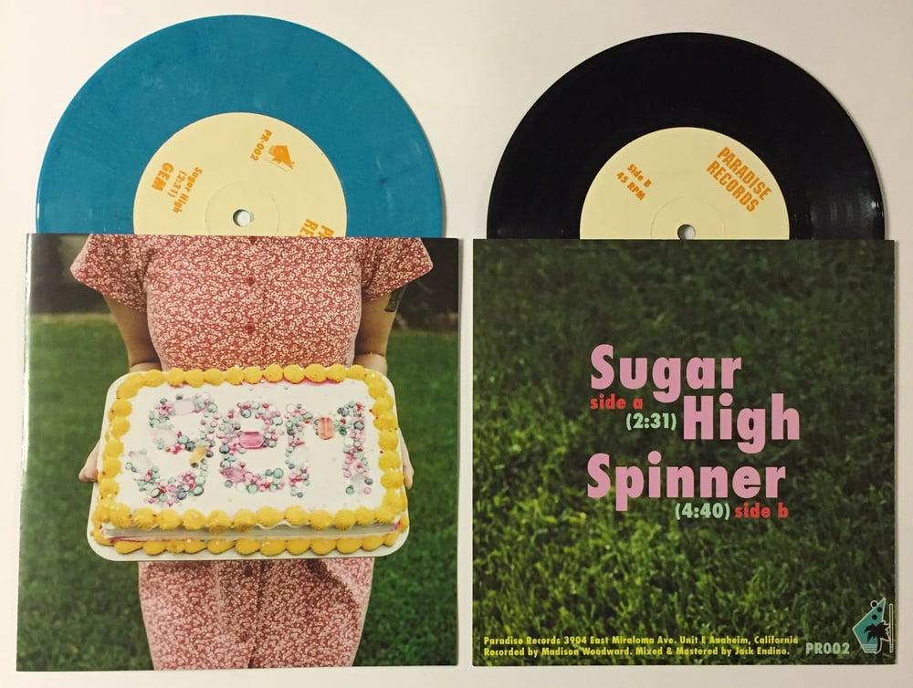 "Image of GEM - Sugar High b/w Spinner 7"" Single"