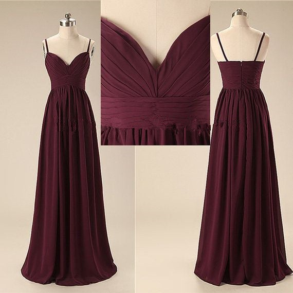 Beautiful A-line Sweetheart Handmade Simple Prom Dresses, Bridesmaid Dresses, Evening Dresses