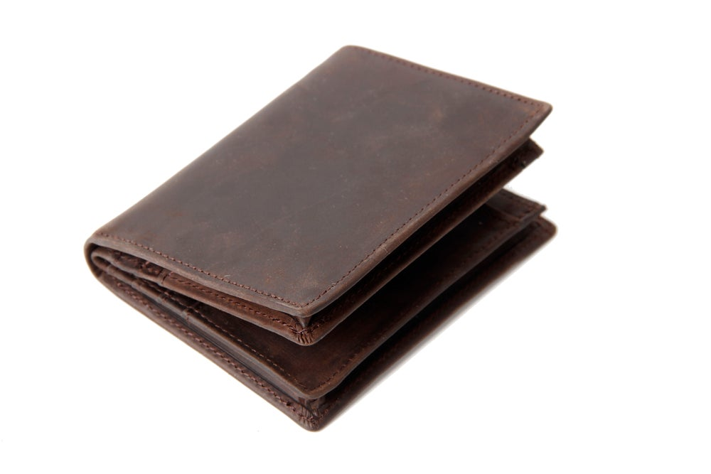 Image of Handmade Custom Wholesale Genuine Leather Wallet Money Purse Bag Men Short Wallet Card Holder 197