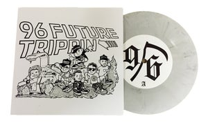 Image of 96 FUTURE TRIPPIN' // WHITE MARBLE // 7 INCH VINYL RECORD USA RELEASE