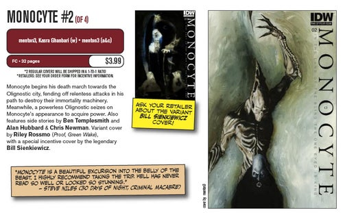 Image of MONOCYTE #2 OF 4 (A, B, & RI COVERS)