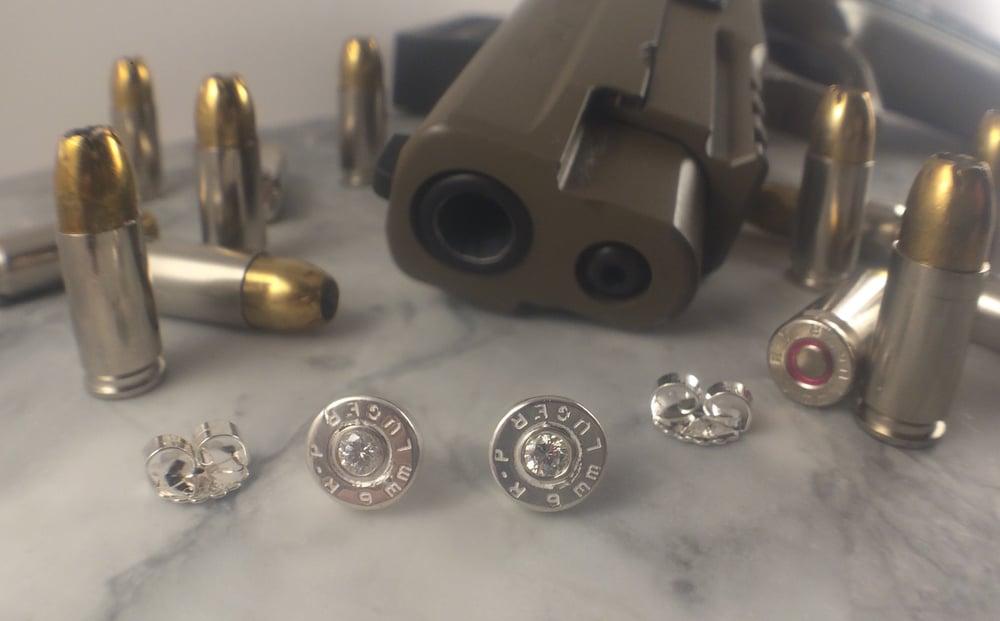 Image of 9mm Golden Saber Earring Stud Set