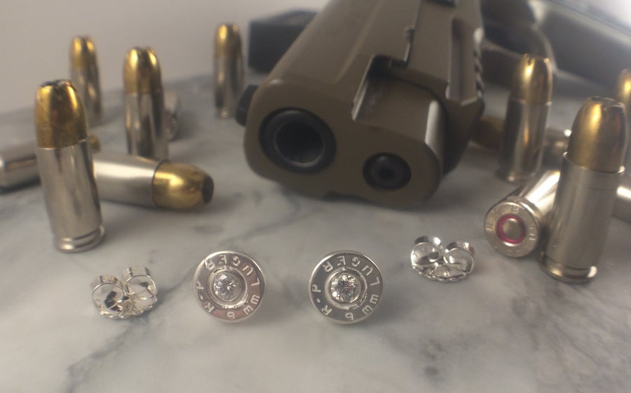 Image of 9mm Golden Saber Earring Stud Set