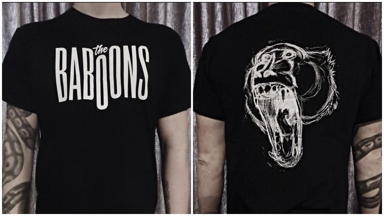 Image of T-Shirt The Baboons Black (Logo)