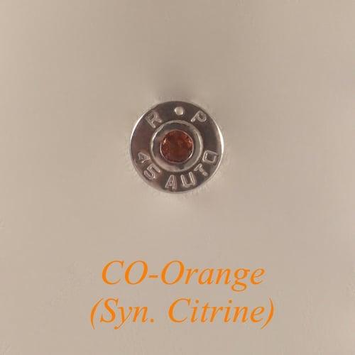 Image of .45 ACP Golden Saber Stud Earring Set