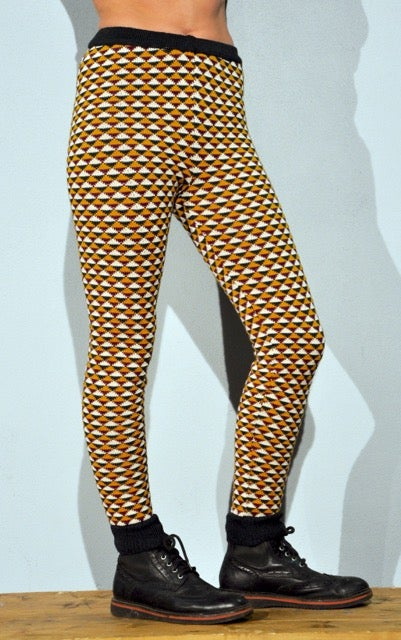 Image of WOOLEN LEGGINGS triangle forest