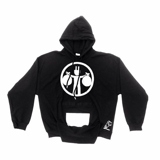 Image of Rolla Wear black hoodie (plug black)