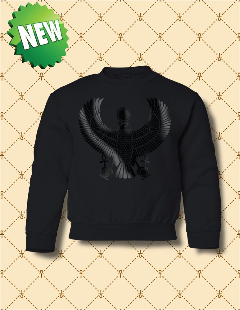 Image of YOUTH BLACK FOIL HRU SWEATSHIRT