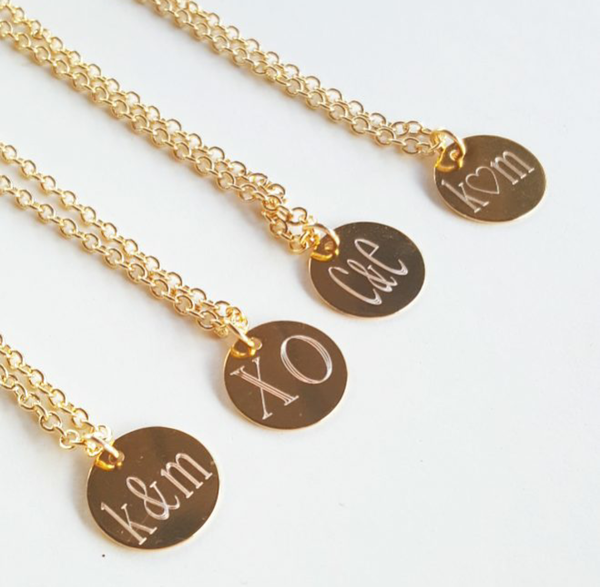 Image of single disk Love Necklaces