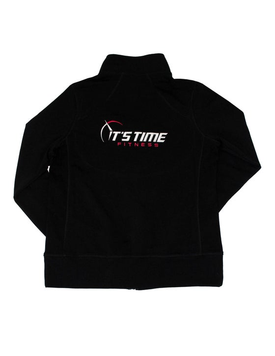 Image of It's Time Fitness Black/Pink Zip Jacket