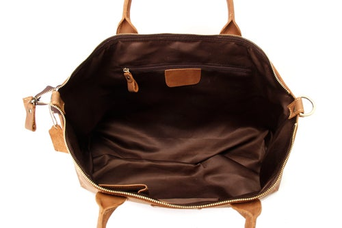 Image of Handmade Genuine Leather Briefcase, Tote Bag, Messenger Shoulder Bag ZB03