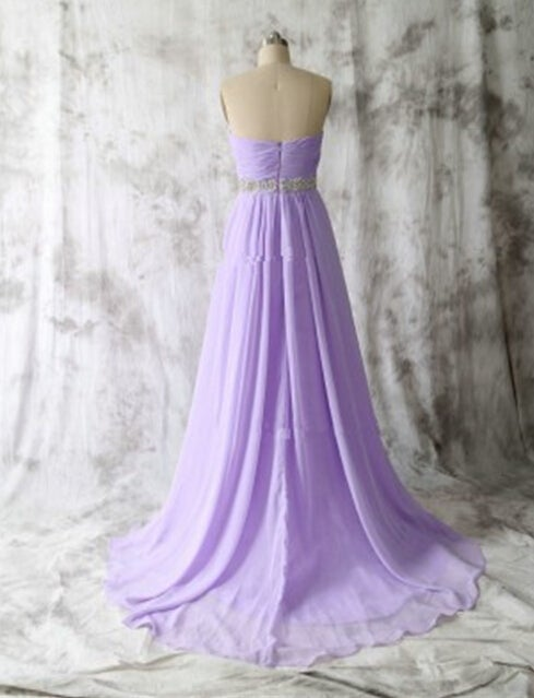 Beautiful Long Handmade Lilac Prom Dresses, Prom Dresses 2016, Simple Prom Dresses