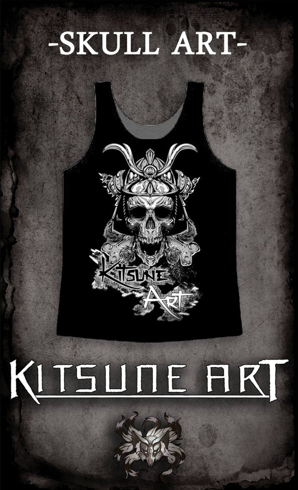 Image of Skull Art Vest T-Shirt for Men/Women