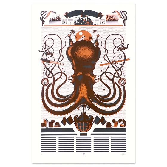 Image of Serigrafía Pulpo / Octopus silkscreen