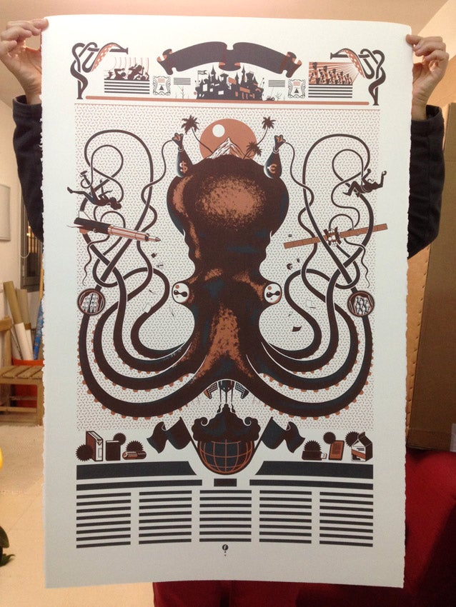 Image of Serigrafía Pulpo / Octopus silkscreen